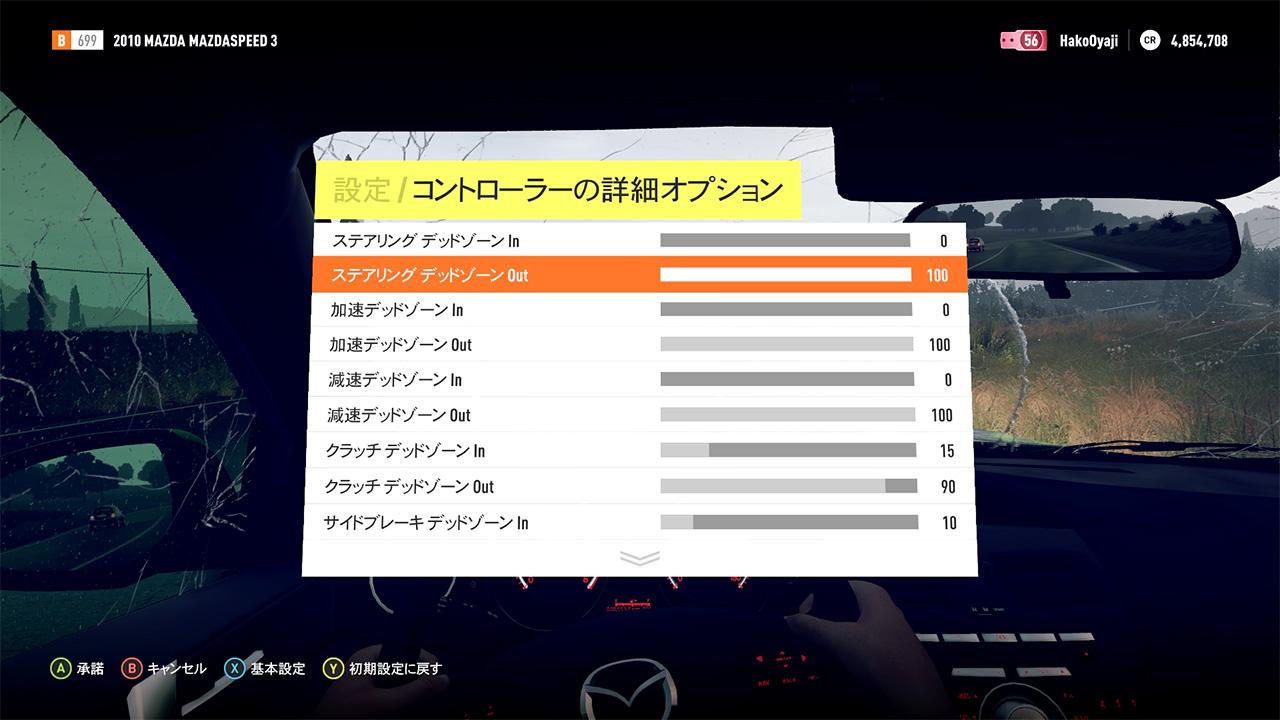 ForzaHorizon3ハンコンTNX設定